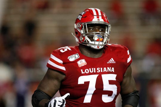UL offensive guard Kevin Dotson is an All-American NFL prospect.