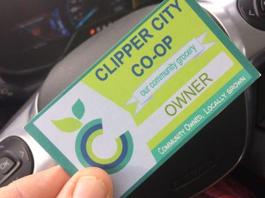 Clipper City Co-op membership badge.