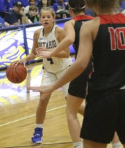 Ontario's Macy Mangan scored 17 second-half points and 19 for the game in a win over Norwalk.