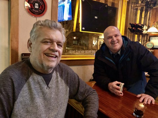 Mike Romans will sit on the visitor side of the his Roman's Pub while being treated for cancer and Charcot-Marie-Tooth disease. Champps owner Tony Lewanovich is planning a benefit for Romans.