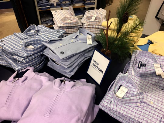 New men's wear arrivals are shown Saturday, December 28, 2019 at Land's End at the Riverpoint Village Shopping Center,  8777 N Port Washington Rd. in Fox Point, Wis.MARK HOFFMAN/MILWAUKEE JOURNAL SENTINEL