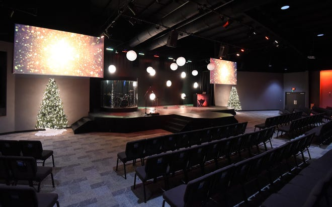 The recently completed worship center at Christ Community Church can hold about 600 visitors. The church will hold a grand opening on Sunday, Jan. 19 at 10 a.m. and a second grand opening the following night at 6:30 p.m.