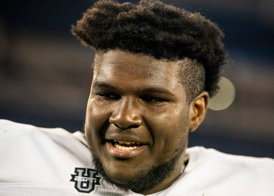 Team Savage defensive tackle Jayson Jones, committed to Alabama, (99) talks after the Under Armor All-America Game in Orlando, Fla., on Thursday January 2, 2020.