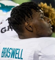 Team Savage defensive end Chris Braswell, committed to Alabama, (2) in the Under Armor All-America Game in Orlando, Fla., on Thursday January 2, 2020.