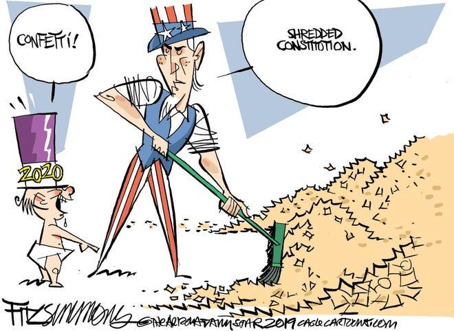 Constitution shredded?