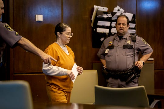 Connie Serbu enters the courtroom for her Nelson hearing in front of Judge Ramiro Mañalich at the Collier County Courthouse in Naples on Friday, January 3, 2020.