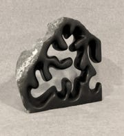 """Free to Roam,"" by Carve Stone, chlorite sculpture, 17 by 12 by 3 inches, at Marco Island Historical Museum gallery"