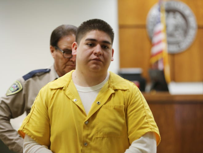 Gabriel Salaiz, who is implicated in the June murder of Robert Peña in a Walmart parking lot, attempted to get released pending trial in Third Judicial District Court on Friday, Jan. 3, 2020.