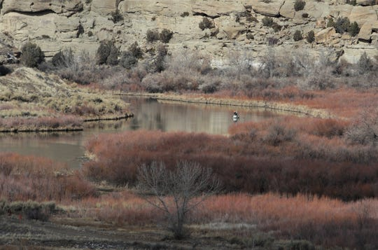 A portion of the San Juan River known as the quality waters is pictured Friday, Jan. 3, 2020, in Navajo Lake State Park