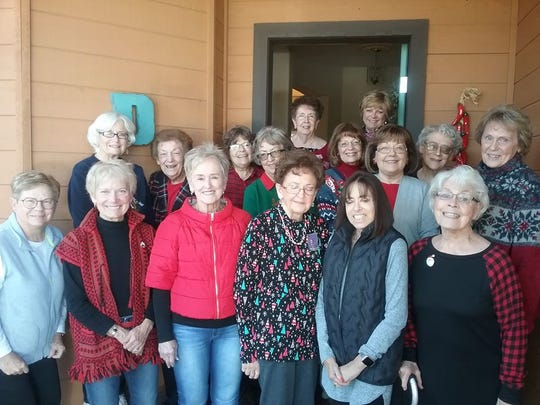 Members of theAlpha Delta Kappa International Honorary Organization for Women Educators--Eta Chapter gathered items to present to the first baby born in the new year at the Lincoln County Medical Center.