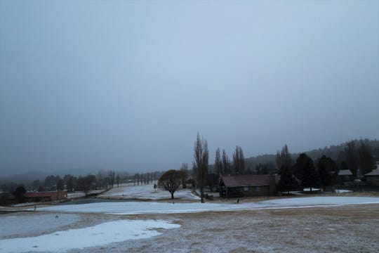 Snowfall and freezing temperatures created ice in Ruidoso on Jan. 2.