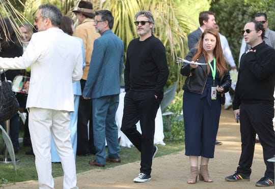 Joaquin Phoenix, center, at the Variety 10 Directors to Watch event at The Parker in Palm Springs, January 3, 2020.