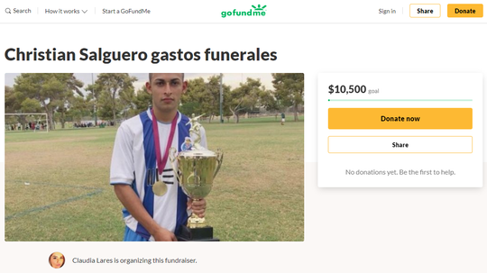 Cristian Perdomo Salguero was stabbed to death near Interstate 17 and Glenrosa Avenue in Phoenix on Jan. 1, 2020.