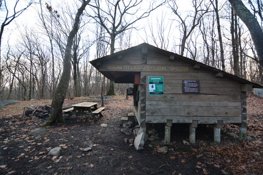 Morgan Stewart Memorial Shelter is a key point of interest along the trail in Poughquag.