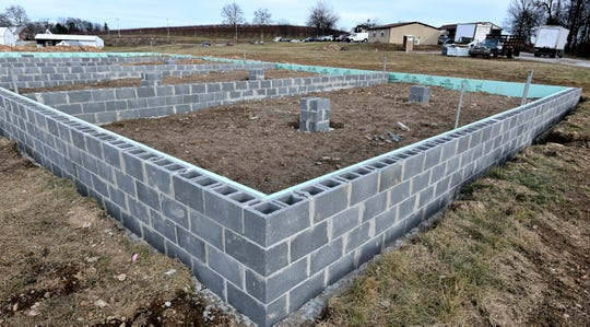 Construction is underway Friday, Jan. 3, 2020, for an event venue at Brown's Orchards & Farm Market. A spokesperson said event organizers have the option of using the market's services during events. Bill Kalina photo