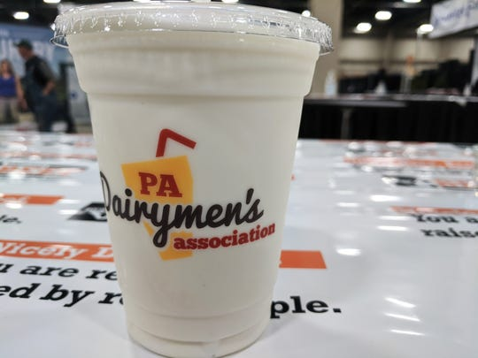 A vanilla milkshake from the 2020 PA Farm Show.
