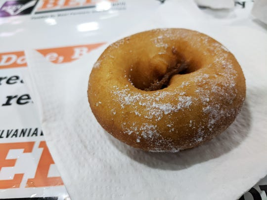 Potato donuts are an annual favorite at the favorites at the Farm Show.