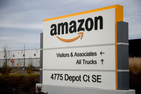 The Amazon fulfillment center in Salem on Jan. 3, 2020. Amazon is turning the former Panasonic building in Salem into a delivery station.