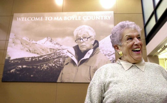 "Gert Boyle, Columbia Sportswear Company's longtime chairwoman, was the inspiration behind the brand's iconic ""One Tough Mother"" ad campaign died Nov. 3, 2019. She was 95."