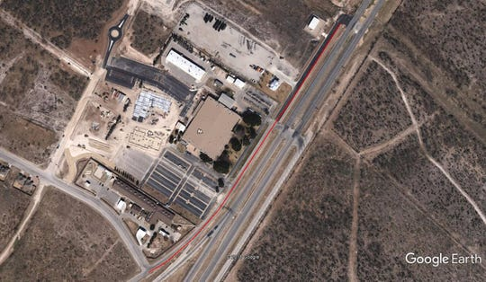 TxDOT paving project will affect the area in red for one week.