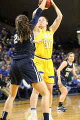 Megan Bultsma tied a career-high with 10 points in Thursday's win over Oral Roberts