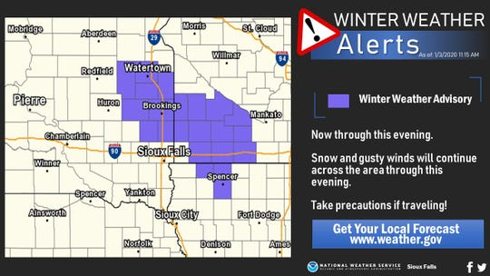 Winter weather advisories in the area