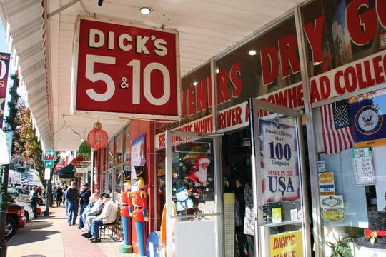 Explore shops like Dicks 5 & 10 during the offseason in downtown Branson.