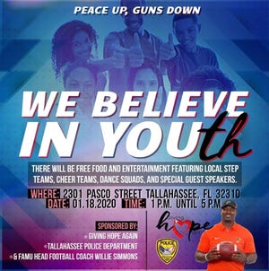 FAMU football coach Willie Simmons is a key figure in the WE BELIEVE IN YOUth rally taking place on Saturday, Jan. 18 on 2301 Pasco St.