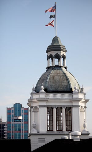 The cupola dome of the old state capitol building