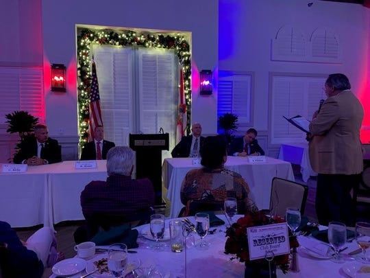The Republican Club of Indian River, Inc. hosted the first debate for the 2020 election of Indian River County sheriff Thursday, Jan. 2, 2020, publicly showcasing each candidates' vision for the future of the sheriff's office.