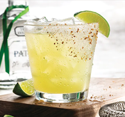 The Cheers to Patron 'Rita! Premium Patron Silver Tequila, triple sec and fresh sour make the perfect blend for the new year.
