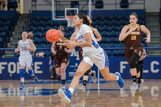 Former Franklin basketball player Cierra Winters is playing more for the Air Force Academy.