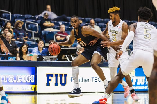 Bryson Williams drives the ball against Florida International Thursday in Miami