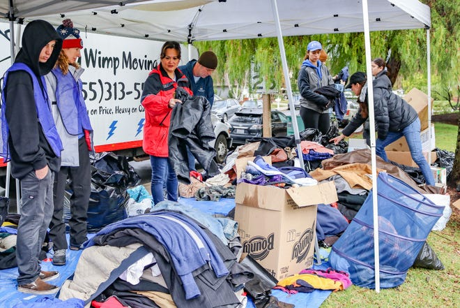 Last year's Coats for Casa Pacifica charity event.