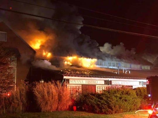 Fire crews were called to Sovana Bistro, which is located on Unionville Road near Kennett Square, at about 2 a.m. for reports of the blaze.