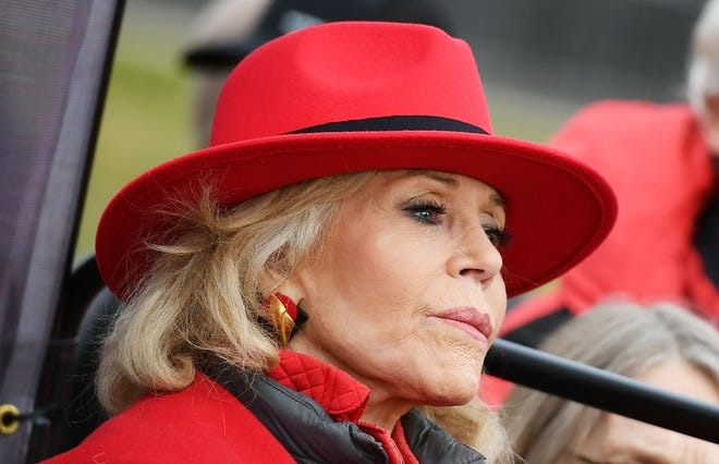 Jane Fonda donated $1,000 to Klobuchar's campagin, according to Federal Election Commission reports.