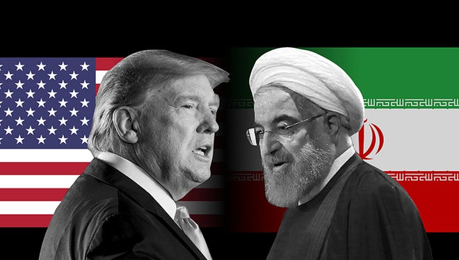 President Donald Trump and Iranian President Hassan Rouhani
