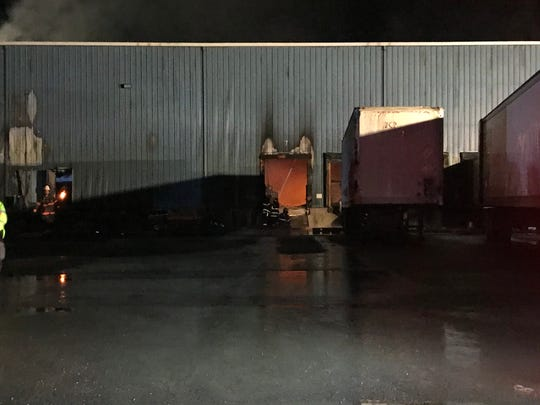 A fire ripped through Taylor Garbage's recycling plant in Apalachin late Firday evening.