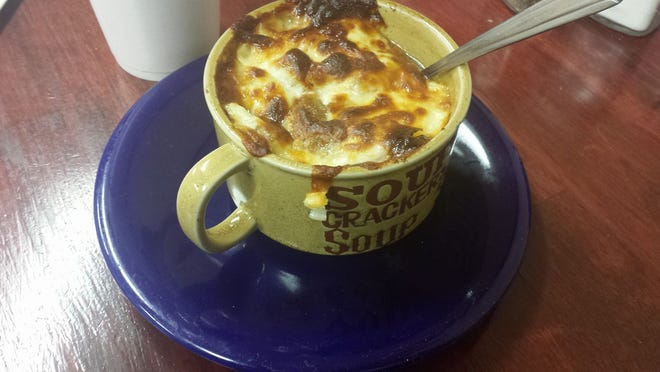 Warm up to this French Onion Soup at Simply Soups & A Little More in Audubon.