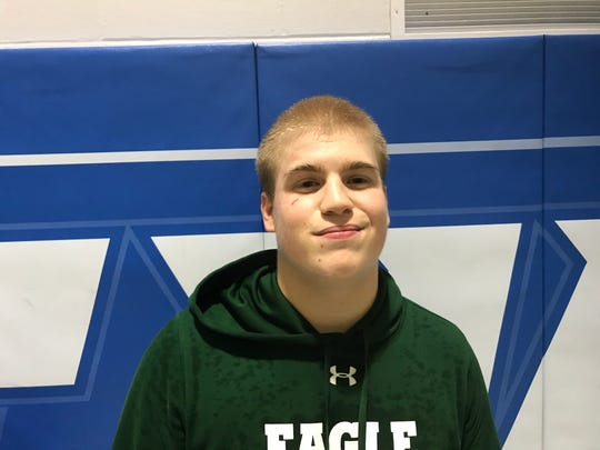 West Deptford's Mike Griffith provided a pin as the Eagles soared to a 53-16 win at Gateway on Friday.