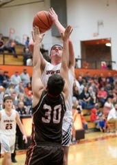 Waverly's Tanner Smallwood goes up for a shot during a 67-56 win over Eastern Pike on Friday, Jan. 03, 2020, in Waverly, Ohio.