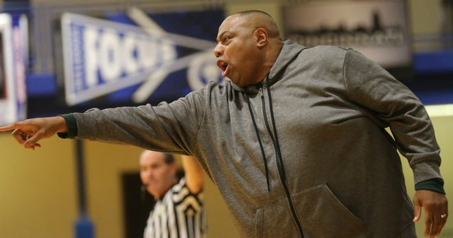 Taft head coach Mark Mitchell during the Senators 77-63 road win over Woodward, Friday, Jan. 3, 2020.