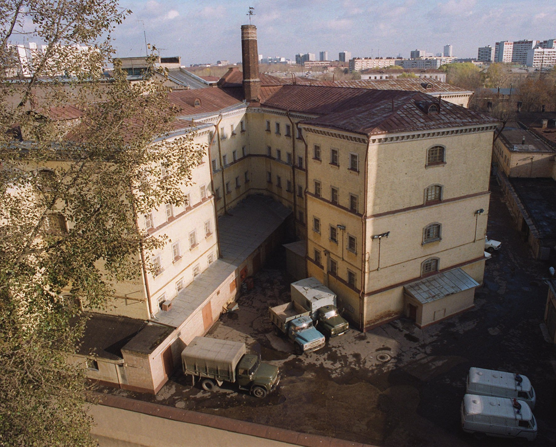 This 1995 photo shows an overview of Moscow's Lefortovo Prison.