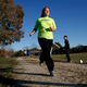 "Grace Brown, 14, poses for a portrait while jogging at the park where she does her jogging workouts for her ""online PE"" class, in Alexandria, Va., Friday, Nov. 1, 2019."