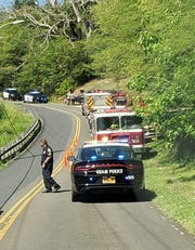 Guam Fire Department and Guam Police Department personnel responded to Talofofo caves for a report of a hiker who fell into a cavern on Saturday, Jan. 4, 2020.