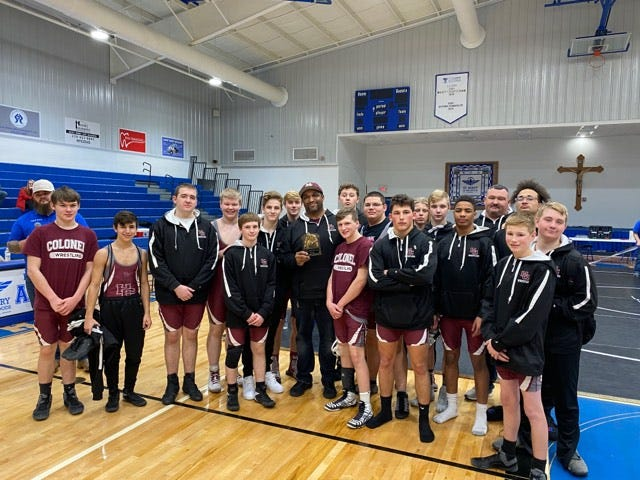 Henderson County High School wrestling team finished second in Saturday's Whitesville Trinity Duals.