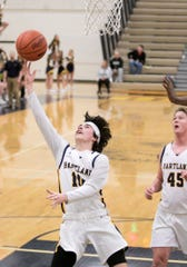 Hartland's Trevor Lewis scored a career-high 31 points in a 58-53 victory at Canton Friday night.