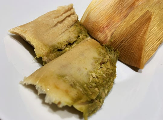 Chicken tamales from Katherine's Mexican Food at the Marco Island Farmer's Market.