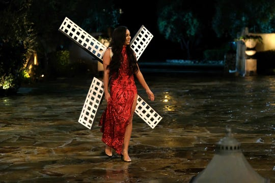 "Deandra makes her entrace with a windmill on Season 24, Episode 1 of ""The Bachelor."""