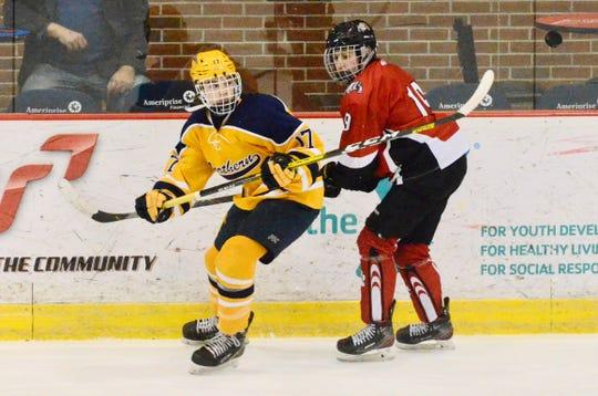 Port Huron Northern's Nick Robbins skates against Romeo during a hockey game on Saturday, Jan. 4, 2020, at McMorran Place in Port Huron.